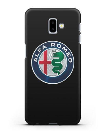 Чехол с логотипом Alfa Romeo силикон черный для Samsung Galaxy J6 Plus [SM-J610F]