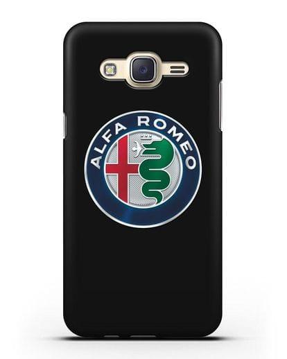 Чехол с логотипом Alfa Romeo силикон черный для Samsung Galaxy J7 2015 [SM-J700H]