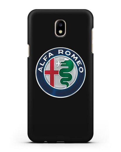Чехол с логотипом Alfa Romeo силикон черный для Samsung Galaxy J7 2017 [SM-J720F]