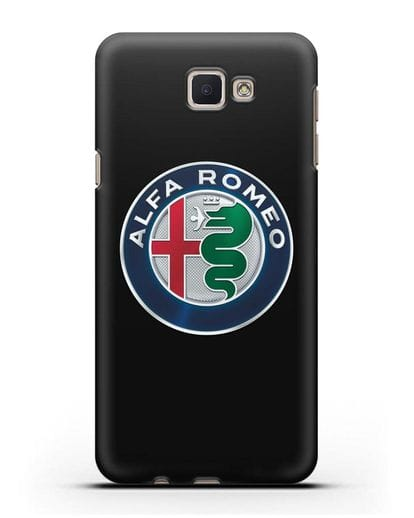 Чехол с логотипом Alfa Romeo силикон черный для Samsung Galaxy J7 Prime [SM-G610F]