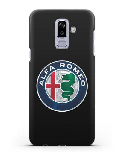 Чехол с логотипом Alfa Romeo силикон черный для Samsung Galaxy J8 2018 [SM-J810F]
