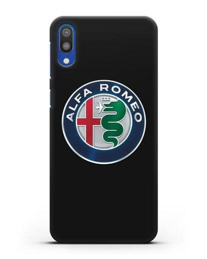 Чехол с логотипом Alfa Romeo силикон черный для Samsung Galaxy M10 [SM-M105F]