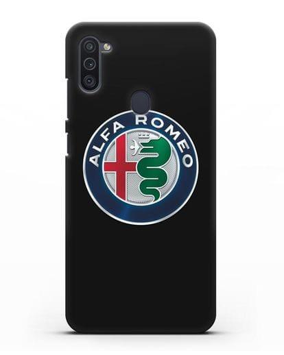Чехол с логотипом Alfa Romeo силикон черный для Samsung Galaxy M11 [SM-M115F]