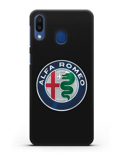 Чехол с логотипом Alfa Romeo силикон черный для Samsung Galaxy M20 [SM-M205F]