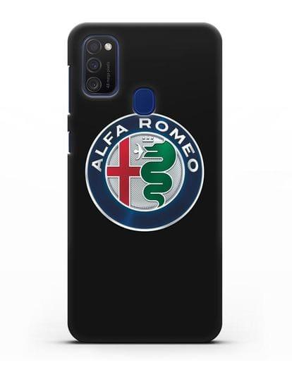 Чехол с логотипом Alfa Romeo силикон черный для Samsung Galaxy M21 [SM-M215F]