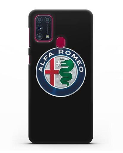Чехол с логотипом Alfa Romeo силикон черный для Samsung Galaxy M31 [SM-M315F]