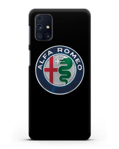 Чехол с логотипом Alfa Romeo силикон черный для Samsung Galaxy M51 [SM-M515F]