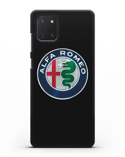 Чехол с логотипом Alfa Romeo силикон черный для Samsung Galaxy Note 10 Lite [N770F]