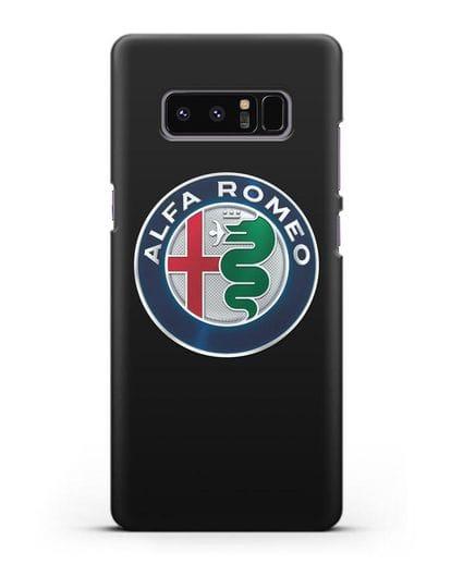 Чехол с логотипом Alfa Romeo силикон черный для Samsung Galaxy Note 8 [N950F]