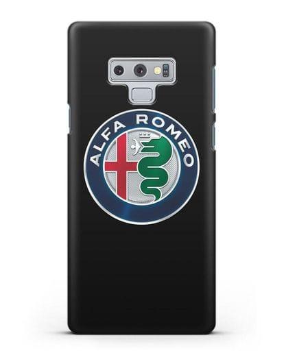 Чехол с логотипом Alfa Romeo силикон черный для Samsung Galaxy Note 9 [N960F]