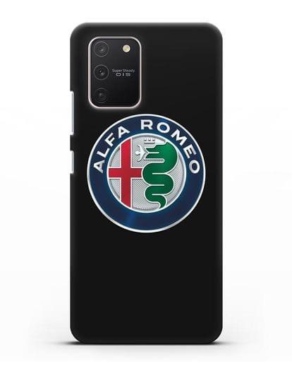 Чехол с логотипом Alfa Romeo силикон черный для Samsung Galaxy S10 lite [SM-G770F]