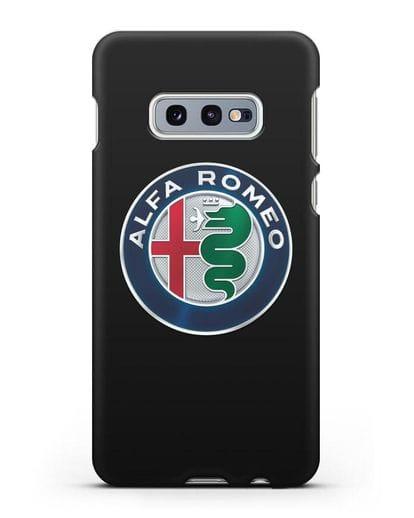Чехол с логотипом Alfa Romeo силикон черный для Samsung Galaxy S10e [SM-G970F]