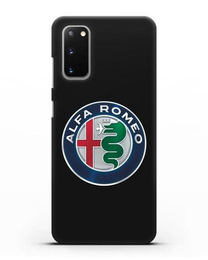 Чехол с логотипом Alfa Romeo силикон черный для Samsung Galaxy S20 [SM-G980F]