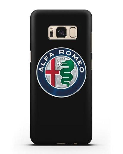 Чехол с логотипом Alfa Romeo силикон черный для Samsung Galaxy S8 [SM-950F]