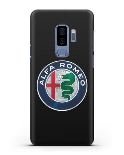 Чехол с логотипом Alfa Romeo силикон черный для Samsung Galaxy S9 Plus [SM-G965F]