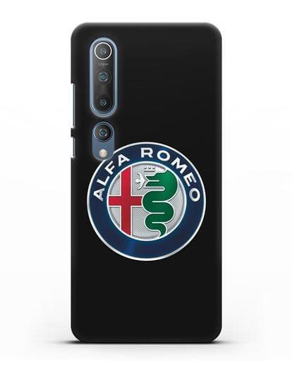 Чехол с логотипом Alfa Romeo силикон черный для Xiaomi Mi 10