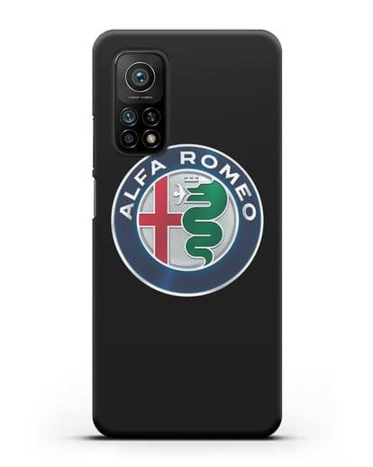 Чехол с логотипом Alfa Romeo силикон черный для Xiaomi Mi 10T