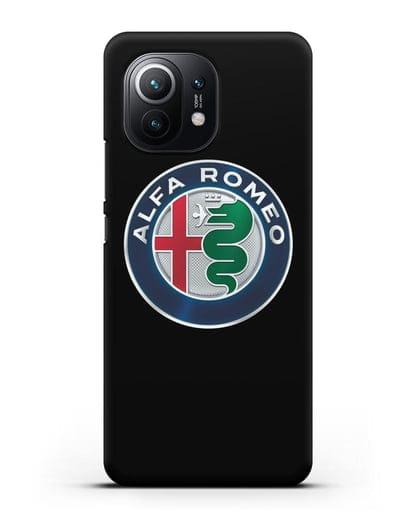 Чехол с логотипом Alfa Romeo силикон черный для Xiaomi Mi 11