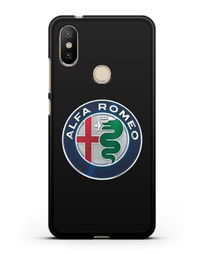 Чехол с логотипом Alfa Romeo силикон черный для Xiaomi Mi 6X