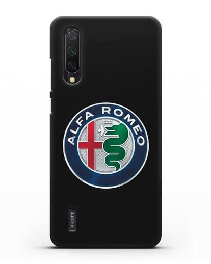 Чехол с логотипом Alfa Romeo силикон черный для Xiaomi Mi 9 Lite