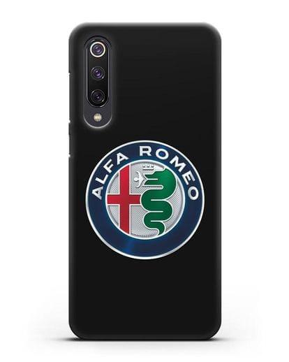 Чехол с логотипом Alfa Romeo силикон черный для Xiaomi Mi 9 SE