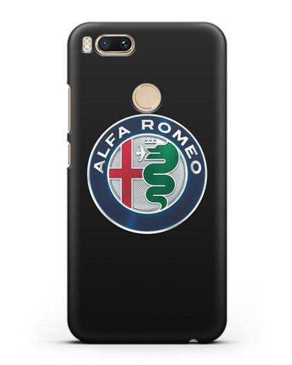 Чехол с логотипом Alfa Romeo силикон черный для Xiaomi Mi A1