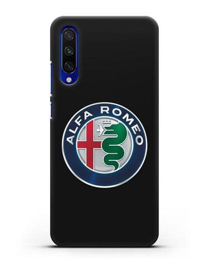Чехол с логотипом Alfa Romeo силикон черный для Xiaomi Mi CC9 E
