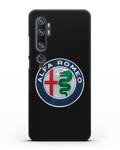 Чехол с логотипом Alfa Romeo силикон черный для Xiaomi Mi Note 10