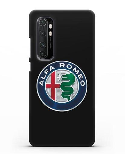 Чехол с логотипом Alfa Romeo силикон черный для Xiaomi Mi Note 10 lite