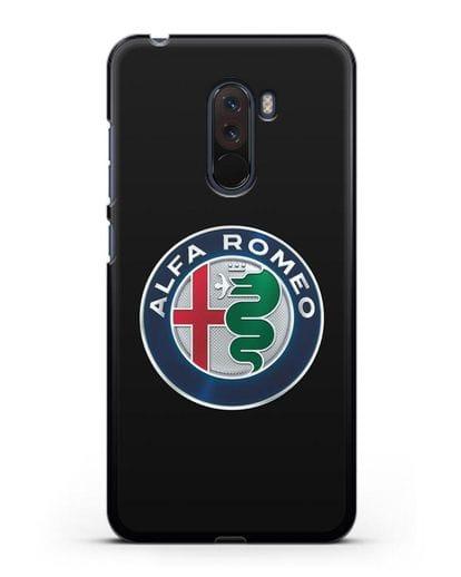 Чехол с логотипом Alfa Romeo силикон черный для Xiaomi Pocophone F1