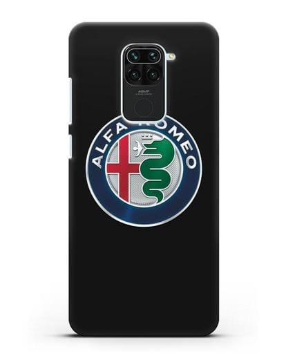 Чехол с логотипом Alfa Romeo силикон черный для Xiaomi Redmi 10X