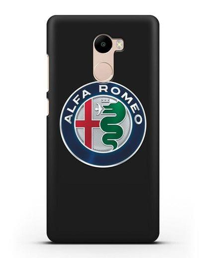 Чехол с логотипом Alfa Romeo силикон черный для Xiaomi Redmi 4