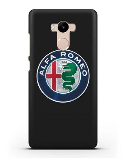 Чехол с логотипом Alfa Romeo силикон черный для Xiaomi Redmi 4 Pro