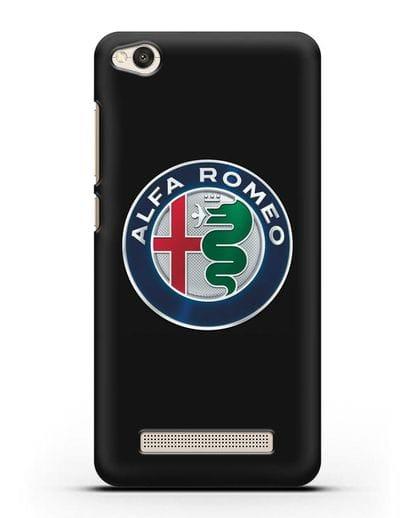 Чехол с логотипом Alfa Romeo силикон черный для Xiaomi Redmi 4A
