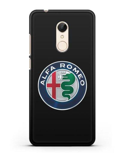 Чехол с логотипом Alfa Romeo силикон черный для Xiaomi Redmi 5 Plus