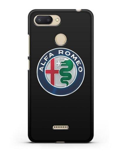 Чехол с логотипом Alfa Romeo силикон черный для Xiaomi Redmi 6