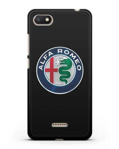 Чехол с логотипом Alfa Romeo силикон черный для Xiaomi Redmi 6A