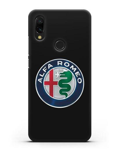 Чехол с логотипом Alfa Romeo силикон черный для Xiaomi Redmi 7