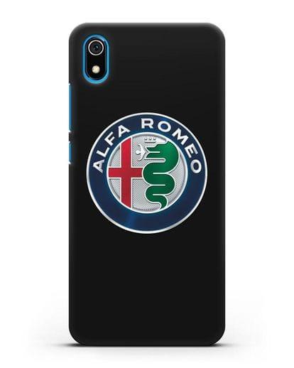 Чехол с логотипом Alfa Romeo силикон черный для Xiaomi Redmi 7A