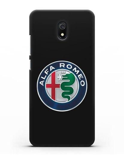 Чехол с логотипом Alfa Romeo силикон черный для Xiaomi Redmi 8A