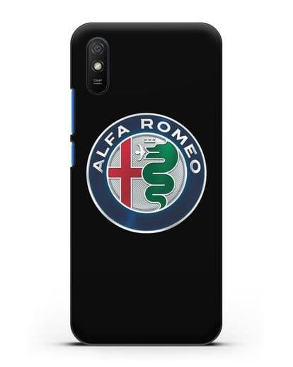 Чехол с логотипом Alfa Romeo силикон черный для Xiaomi Redmi 9A