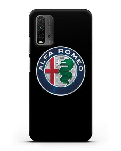 Чехол с логотипом Alfa Romeo силикон черный для Xiaomi Redmi 9T