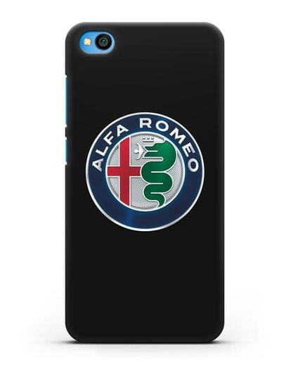 Чехол с логотипом Alfa Romeo силикон черный для Xiaomi Redmi Go