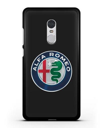 Чехол с логотипом Alfa Romeo силикон черный для Xiaomi Redmi Note 4