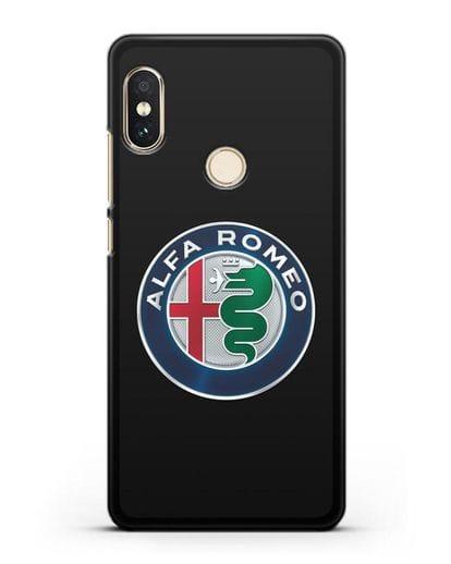 Чехол с логотипом Alfa Romeo силикон черный для Xiaomi Redmi Note 5
