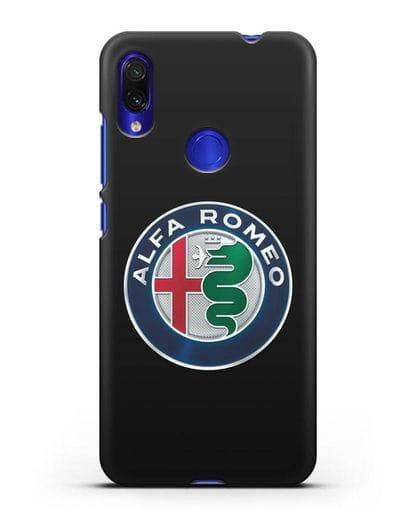Чехол с логотипом Alfa Romeo силикон черный для Xiaomi Redmi Note 7