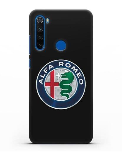Чехол с логотипом Alfa Romeo силикон черный для Xiaomi Redmi Note 8