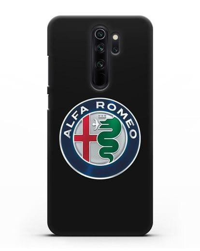 Чехол с логотипом Alfa Romeo силикон черный для Xiaomi Redmi Note 8 Pro