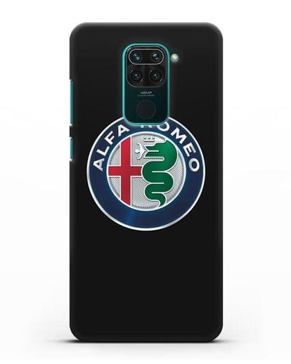 Чехол с логотипом Alfa Romeo силикон черный для Xiaomi Redmi Note 9