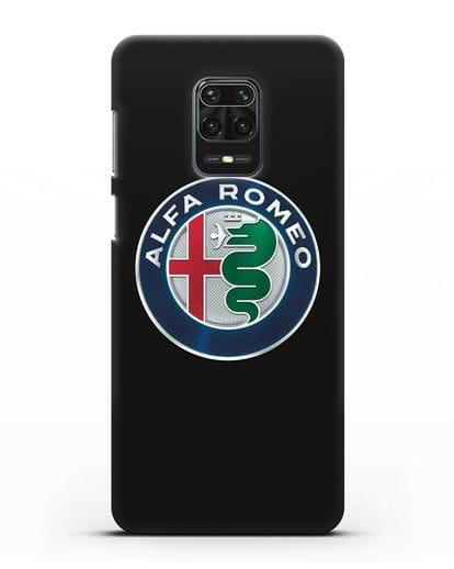Чехол с логотипом Alfa Romeo силикон черный для Xiaomi Redmi Note 9 Pro